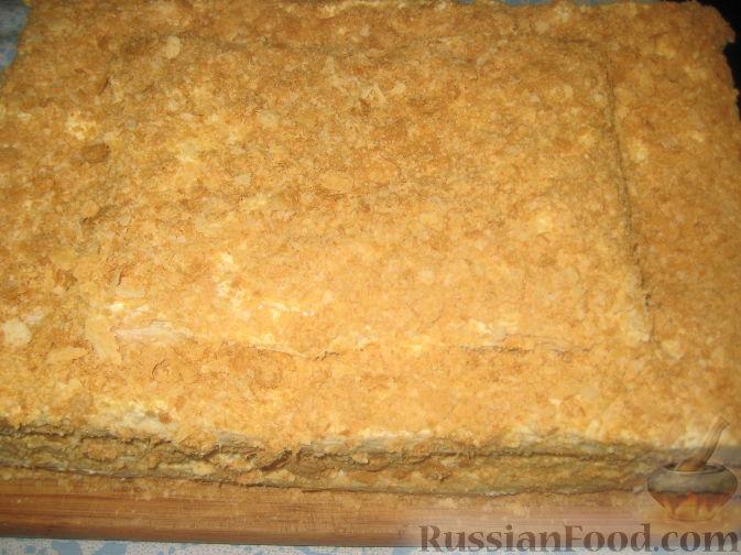Фото рецепт торта наполеон из готового теста