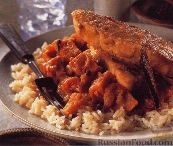 Рецепт Рагу с рыбным филе под пряным соусом