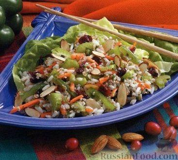 Рецепт Рисовый салат с булгуром и овощами