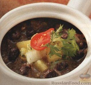 Рецепт Легкий фасолевый суп с овощной сальсой