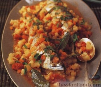 Рецепт Скумбрия, запеченная с овощами