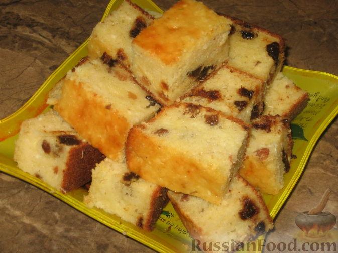 Рецепт Имбирно-творожный пирог с сухофруктами