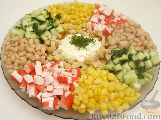 салат с сухариками королевский рецепт с фото