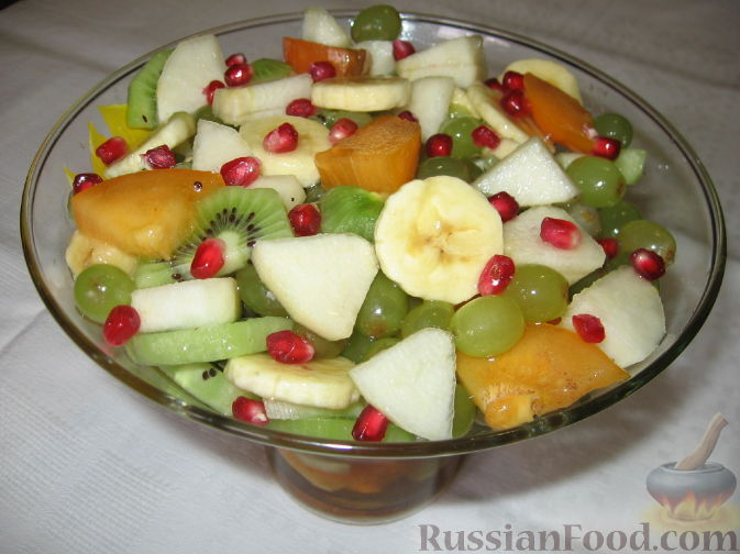 салаты с фруктами рецепты с фото