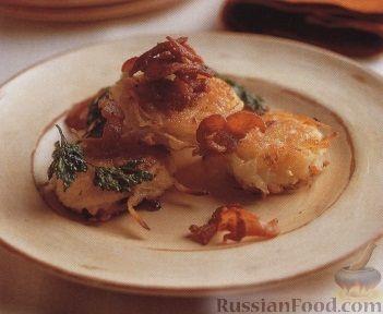 Рецепт Картофельные оладьи с жареным беконом