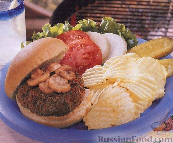 Рецепт Бургеры с грибами