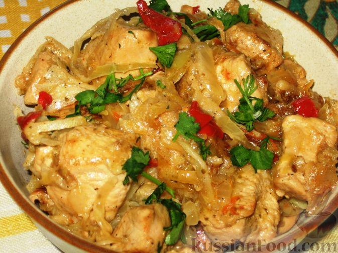 Рецепт Гуляш из индейки с квашеной капустой