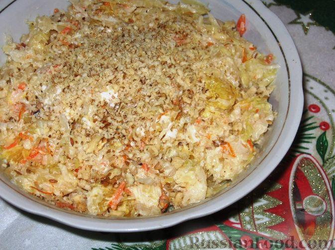 Рецепт Салат из квашеной капусты с апельсинами