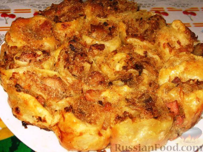 Рецепт Ленивый пирог с кислой капустой