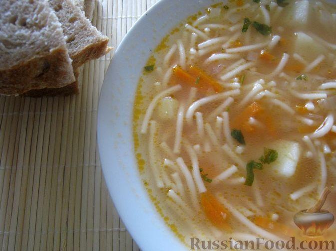 Рецепт Мамин вермишелевый суп