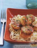 Фото к рецепту: Морские гребешки с лимонным соусом