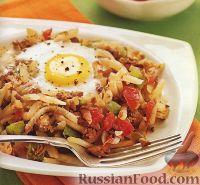 Фото к рецепту: Рагу из измельченного картофеля и фарша