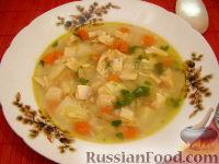 Фото к рецепту: Классический рисовый суп на курином бульоне