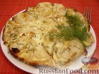 Фото к рецепту: Пельмени, запеченные под сметанным соусом