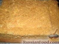 Фото к рецепту: Торт Наполеон (из готового теста)