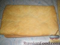 Фото приготовления рецепта: Торт Наполеон (из готового теста) - шаг №2