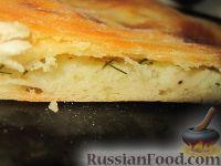Фото к рецепту: Пирог с картошкой и сыром (картофджын)