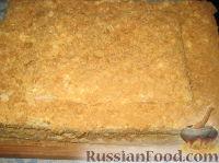 Фото приготовления рецепта: Торт Наполеон (из готового теста) - шаг №5