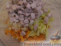 Фото приготовления рецепта: Салат «Обжорка» - шаг №9