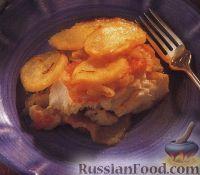 Фото к рецепту: Картофель и рыба, запеченные в духовке