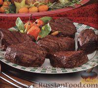 Фото к рецепту: Говяжьи стейки, приготовленные на гриле