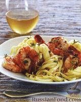 Фото к рецепту: Лапша с креветками