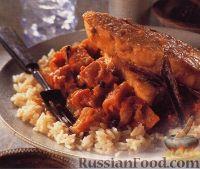 Фото к рецепту: Рагу с  рыбным филе под пряным соусом