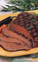 Фото к рецепту: Говядина, жаренная на гриле