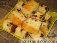 Фото к рецепту: Имбирно-творожный пирог с сухофруктами