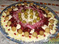 """Фото к рецепту: Праздничный салат """"Колесо обозрения"""""""