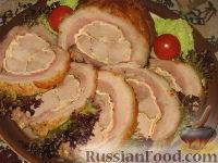 Фото к рецепту: Мясной рулет Украинский