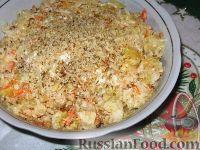 Фото к рецепту: Салат из квашеной капусты с апельсинами