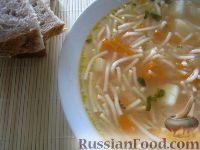 Фото к рецепту: Мамин вермишелевый суп