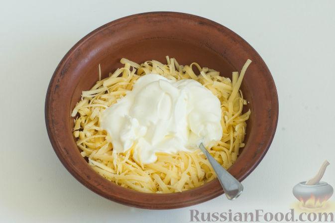 Фото приготовления рецепта: Овощное рагу с грибами, в сметанно-сырном соусе - шаг №9