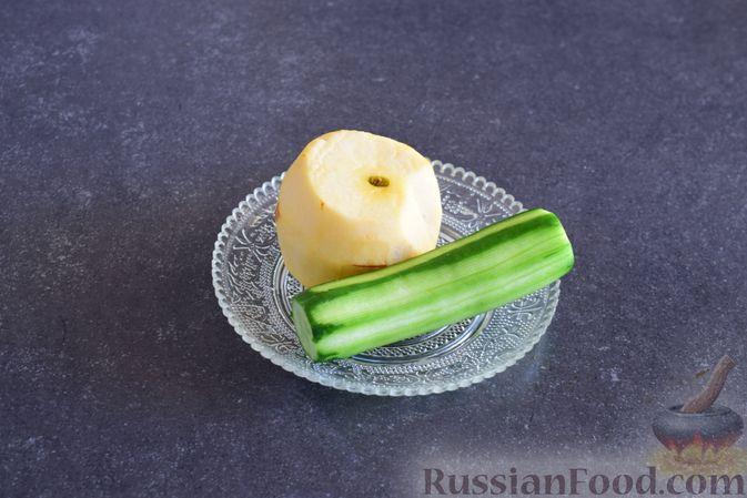 Фото приготовления рецепта: Закуска из ветчины и сыра с соусом из хрена - шаг №2