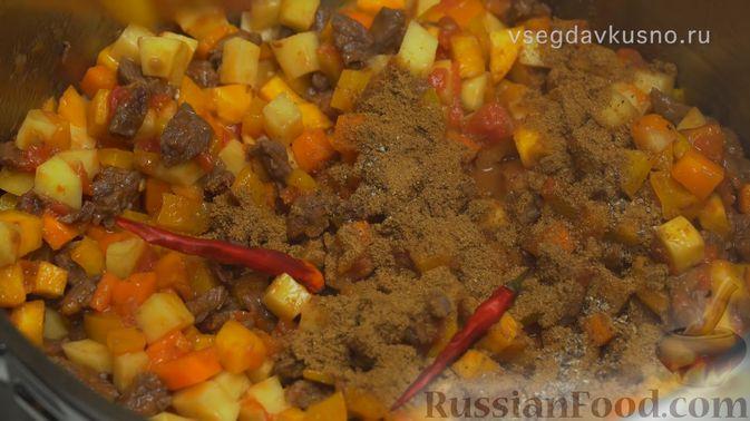 Фото приготовления рецепта: Узбекский суп Мастава - шаг №6