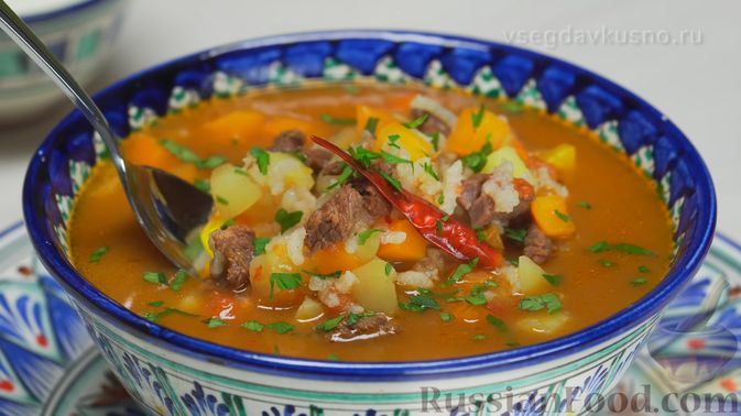 Фото приготовления рецепта: Узбекский суп Мастава - шаг №9