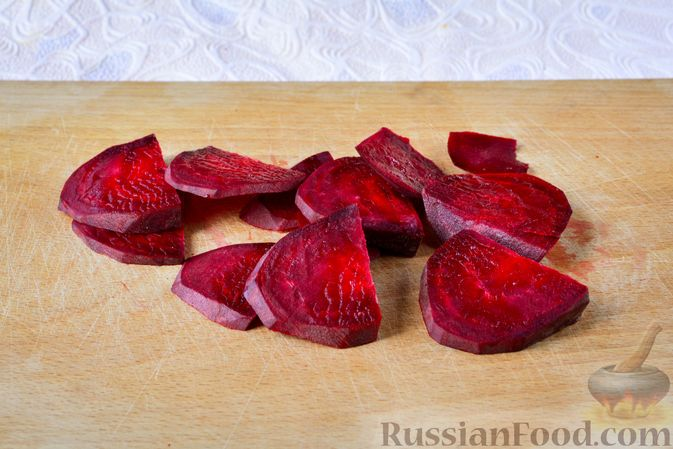 Фото приготовления рецепта: Маринованная цветная капуста со свеклой - шаг №3