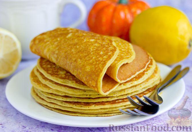Фото к рецепту: Тыквенно-лимонные блины