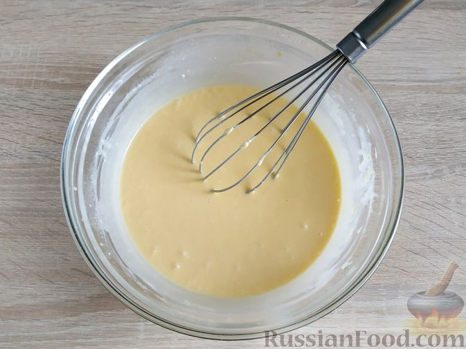 Фото приготовления рецепта: Тыквенно-лимонные блины - шаг №7