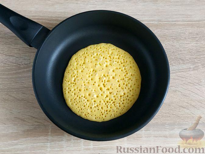 Фото приготовления рецепта: Тыквенно-лимонные блины - шаг №10