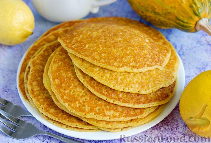 Фото приготовления рецепта: Тыквенно-лимонные блины - шаг №13