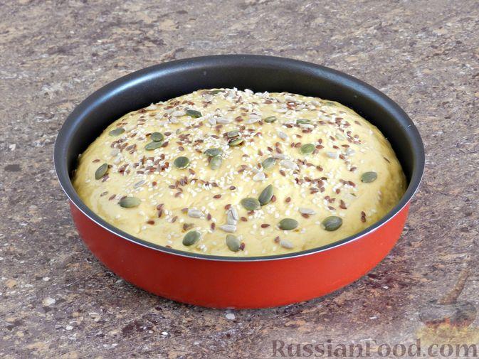Фото приготовления рецепта: Тыквенный хлеб - шаг №7
