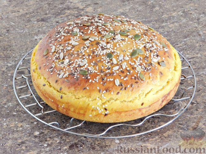 Фото приготовления рецепта: Тыквенный хлеб - шаг №9