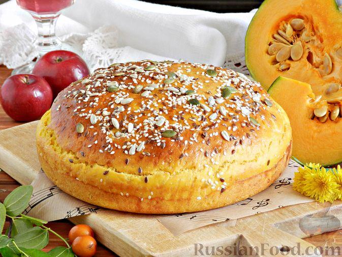 Фото приготовления рецепта: Тыквенный хлеб - шаг №10