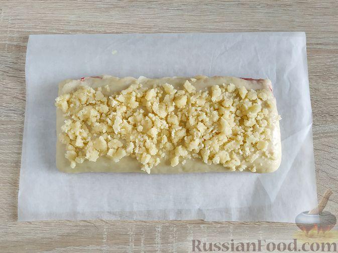 Фото приготовления рецепта: Пирог с вишнёвым вареньем - шаг №13