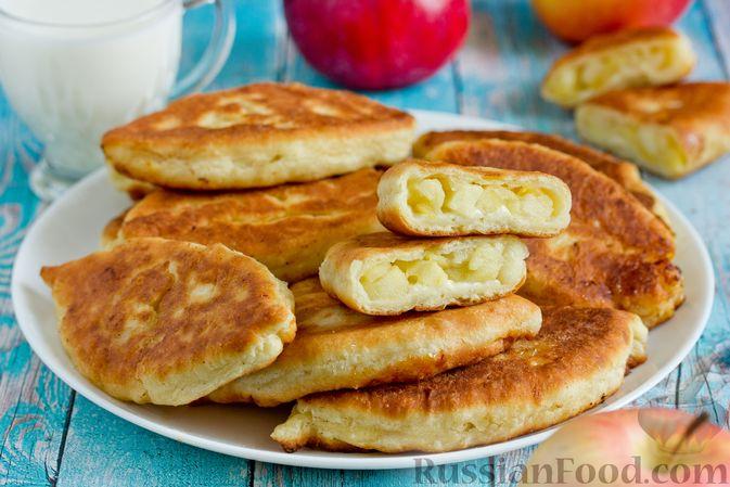 Фото к рецепту: Творожные пирожки с яблоками