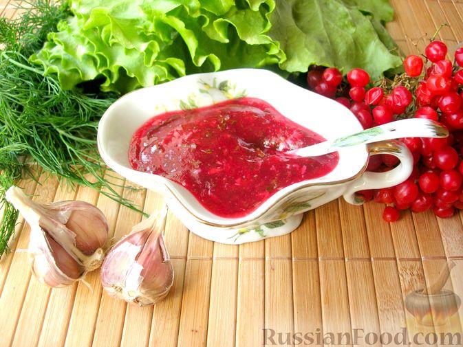 Фото к рецепту: Калиновый соус к мясу, рыбе или птице