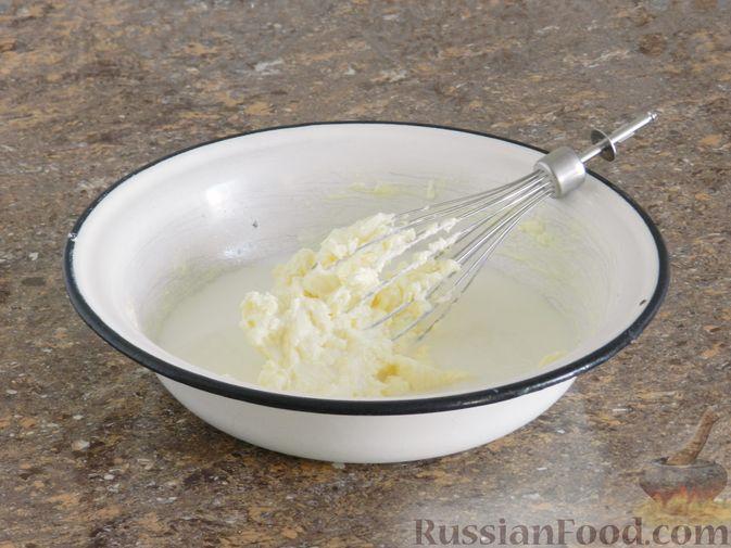 Фото приготовления рецепта: Яблочный тарт с заварным кремом и ореховой корочкой - шаг №10