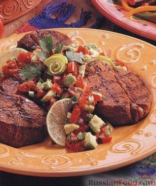 Рецепт Говяжьи стейки с томатной сальсой